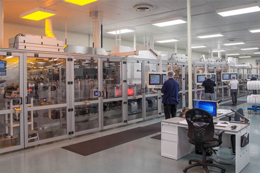 Manufacturing of Trividia Health's test strips on nemo line